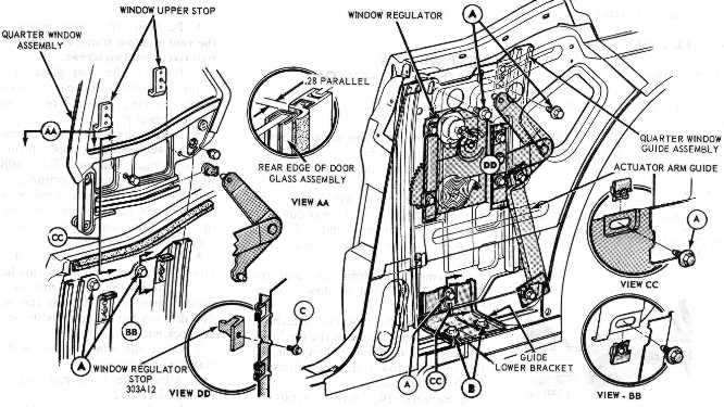 Zerlegung Ford Mustang Coup 233 1968 Seitenscheiben Hinten